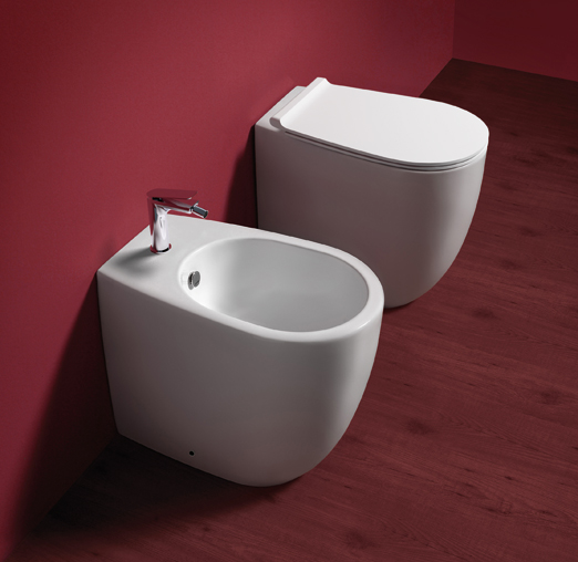 Staand Toilet Vignoni VI 24 Back to Wall Rimfree